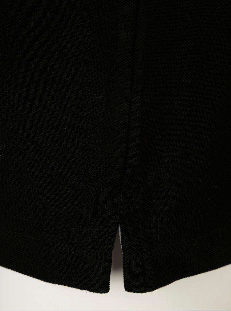 Černé pánské regular fit polo tričko s výšivkou loga s.Oliver