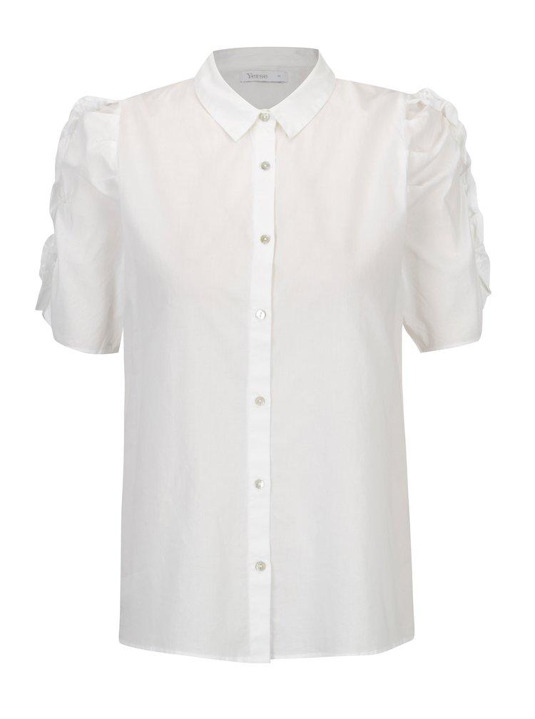 Bílá košile s volány na rukávech Yerse