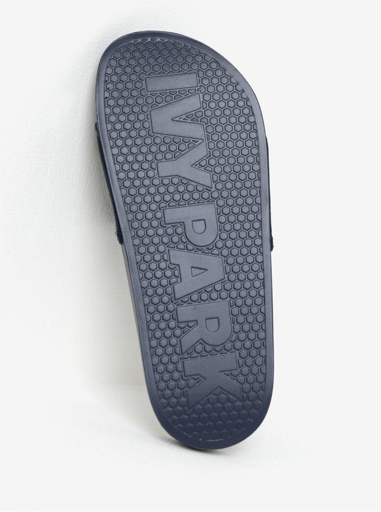 Tmavě modré lesklé pantofle Ivy Park