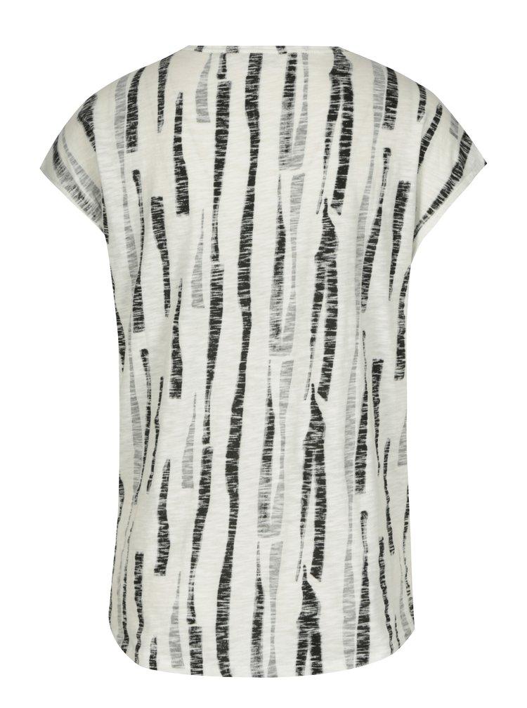 Černo-krémové dámské vzorované tričko Garcia Jeans