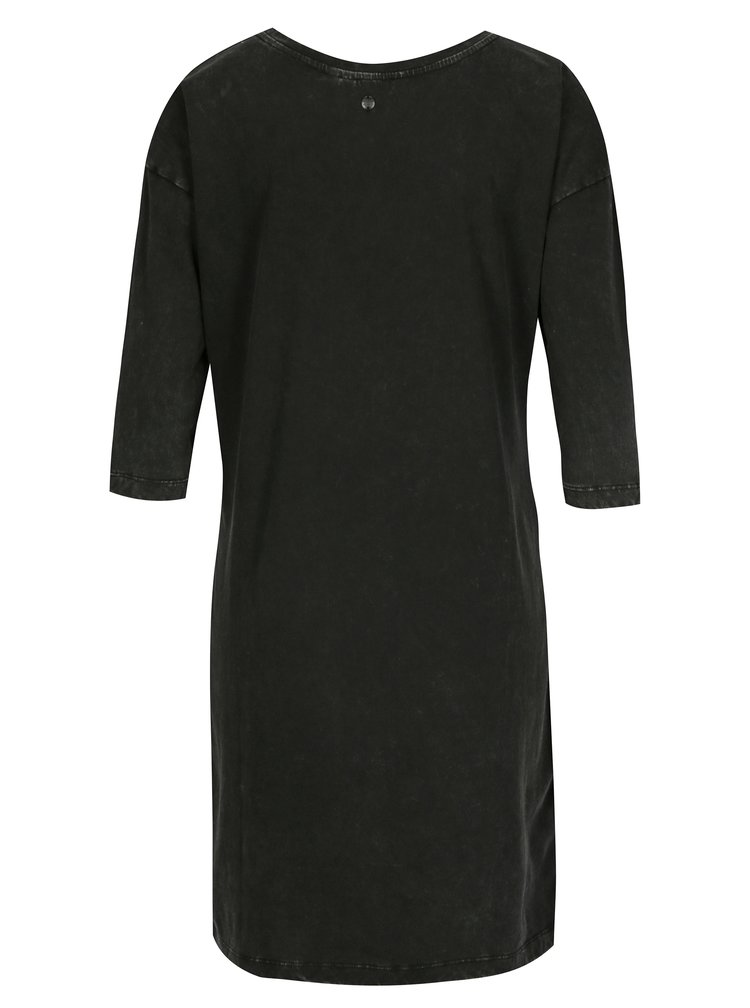 Černé mikinové šaty s kulatým výstřihem Garcia Jeans