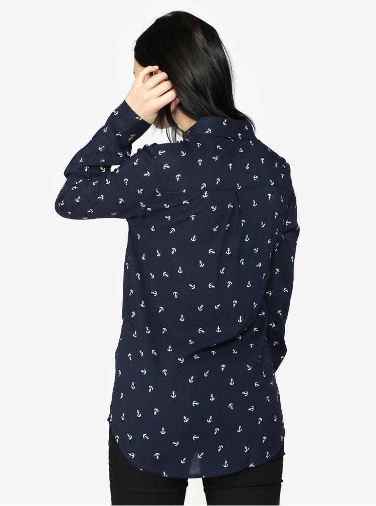 Modrá vzorovaná košile s kapsami Haily's Joleen