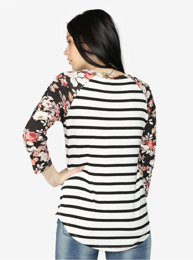 Krémovo-černé vzorované tričko Haily´s Emely