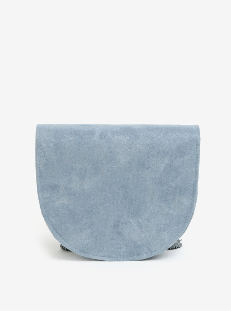 Modrá crossbody kabelka s třásněmi MISSGUIDED