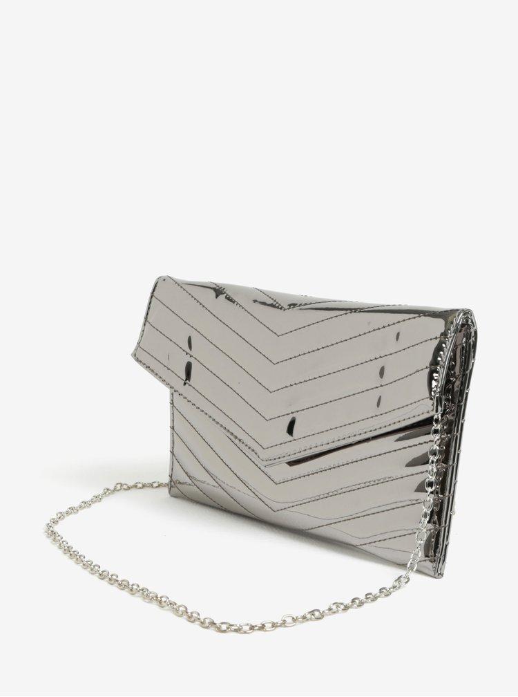 Prošívané psaníčko ve stříbrné barvě MISSGUIDED