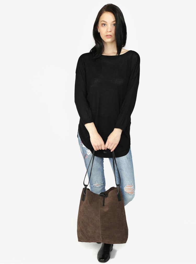 Černý svetr s výstřihem na zádech Haily's Tamara