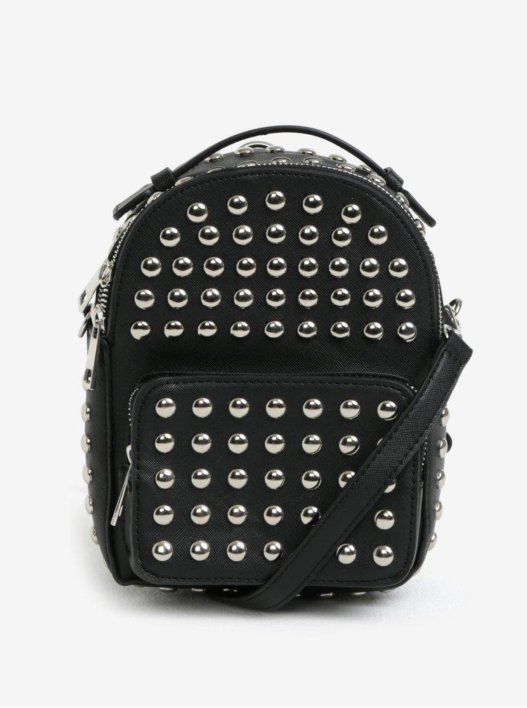 Černý malý dámský batoh s cvočky MISSGUIDED