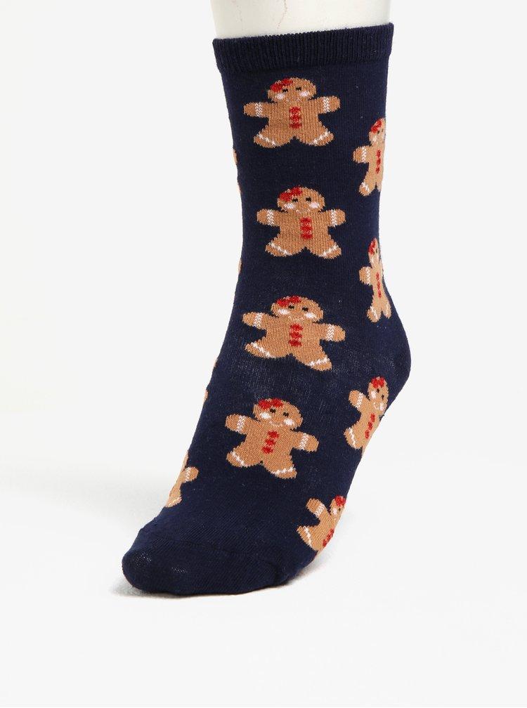 Tmavě modré ponožky s motivem perníků  Oasis Gingerbread