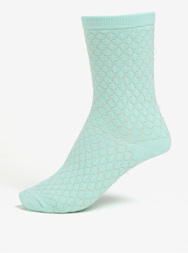 Sada tří párů ponožek v mentolové, růžové a krémové barvě Oasis Quilted