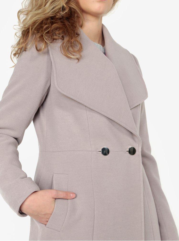 Světle šedý kabát s kapsami Oasis Lily
