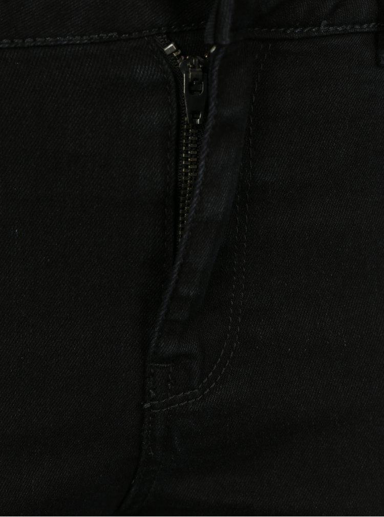 Černé dámské 3/4 džíny VERO MODA Hot Seven