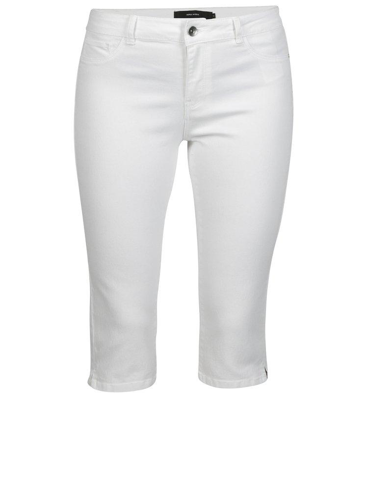 Bílé dámské 3/4 džíny VERO MODA Hot Seven