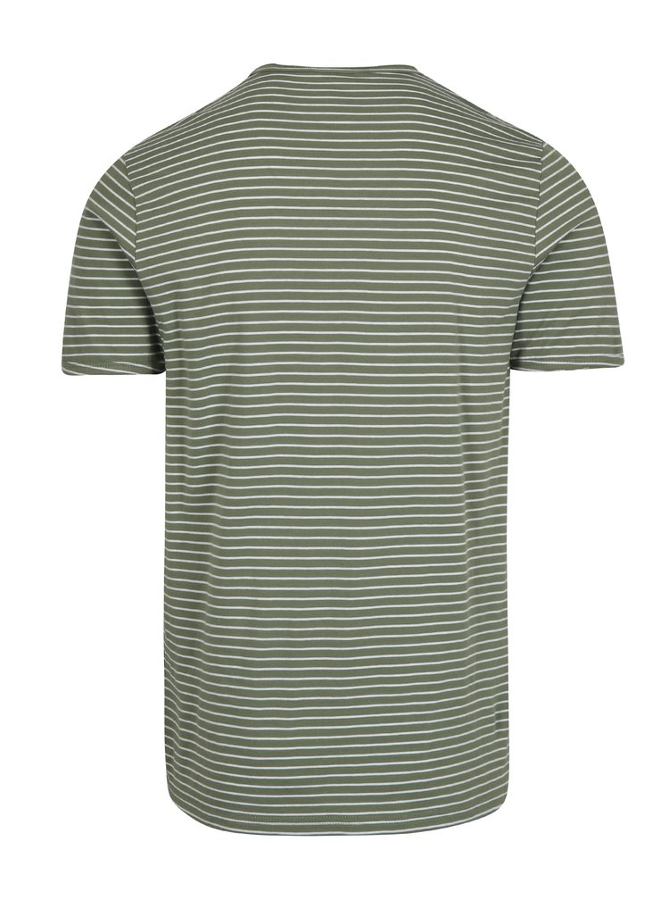 Tricou verde&crem in dungi - ONLY & SONS Albert Stripe