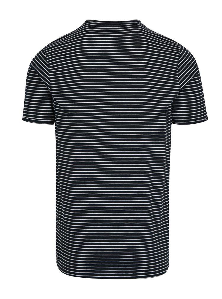 Krémovo-modré pruhované tričko ONLY & SONS Albert Stripe