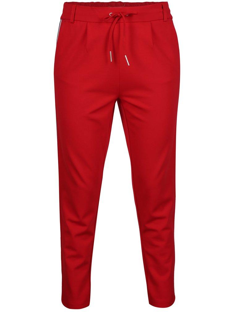 Červené kalhoty s pruhem ONLY Poptrash