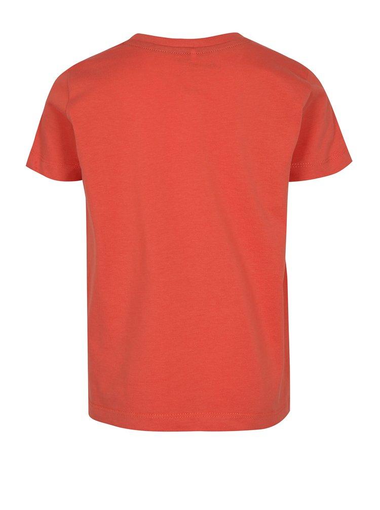 Korálové klučičí tričko s potiskem ponorky name it Mike