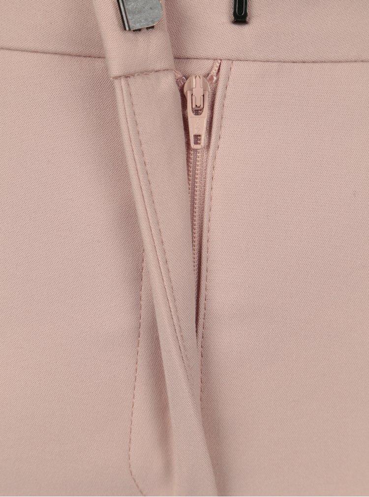 Starorůžové kalhoty se zipem na nohavicích Selected Femme Muse