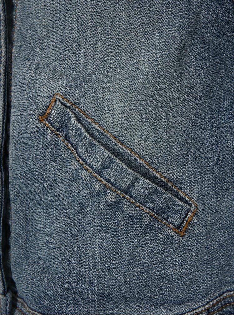 Modrá holčičí džínová bunda s krajkou na zádech name it Bunika