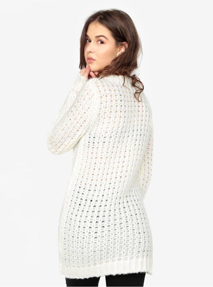 Krémový dlouhý svetr MISSGUIDED