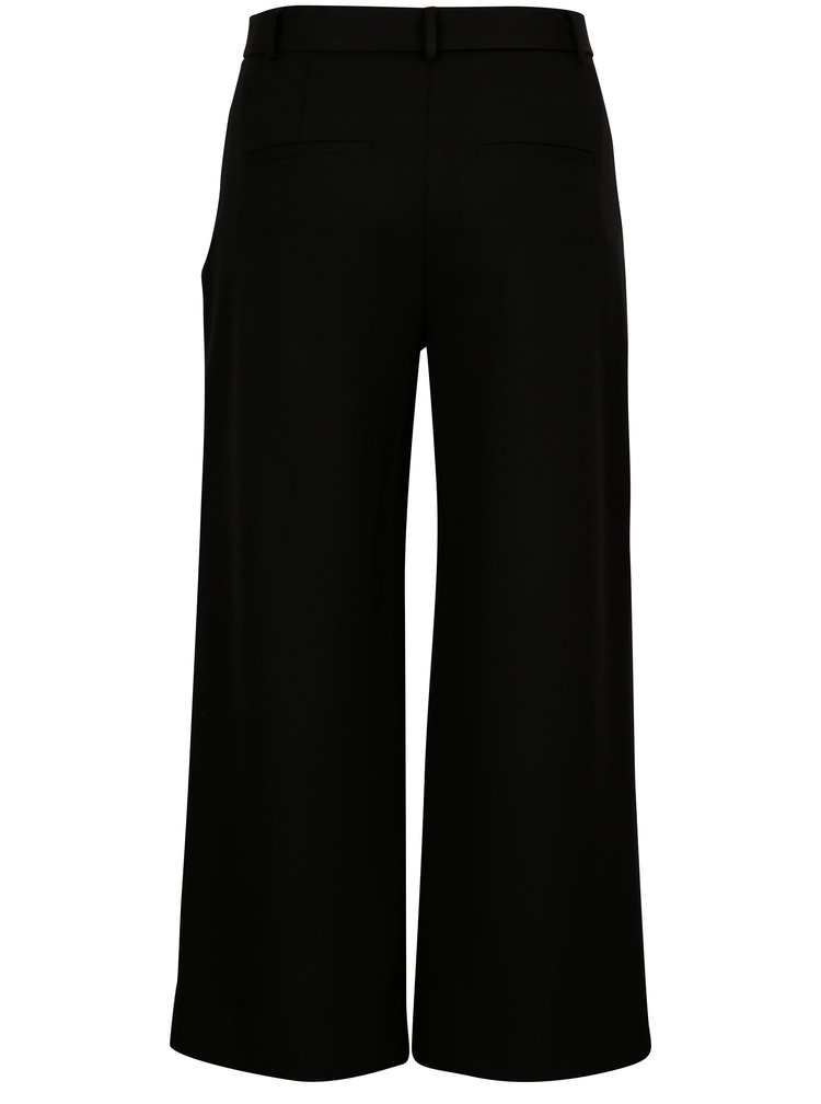 Černé culottes s vysokým pasem Selected Femme Aila
