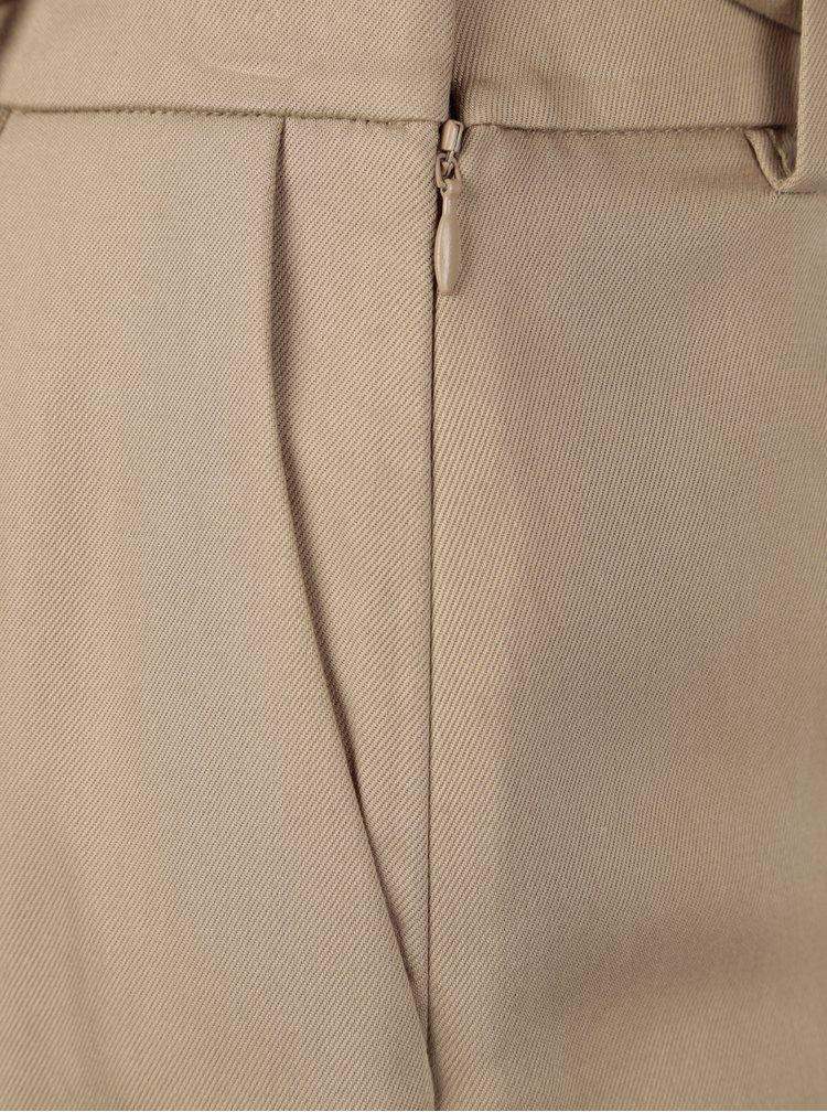 Béžové culottes s vysokým pasem Selected Femme Cross