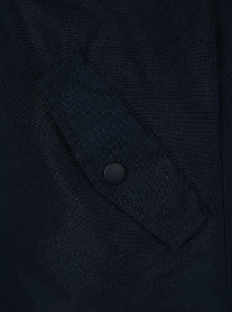 Oranžovo-modrá klučičí bunda s kapucí name it Mads