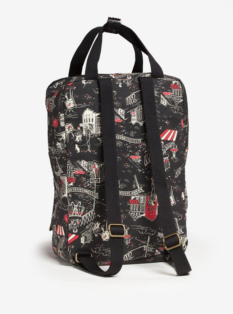 Černý vzorovaný batoh/kabelka Blutsgeschwister