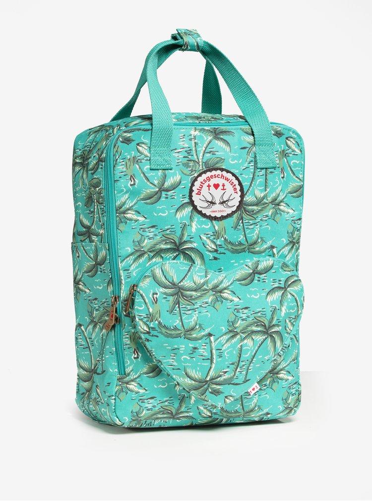 Tyrkysový vzorovaný batoh/kabelka Blutsgeschwister