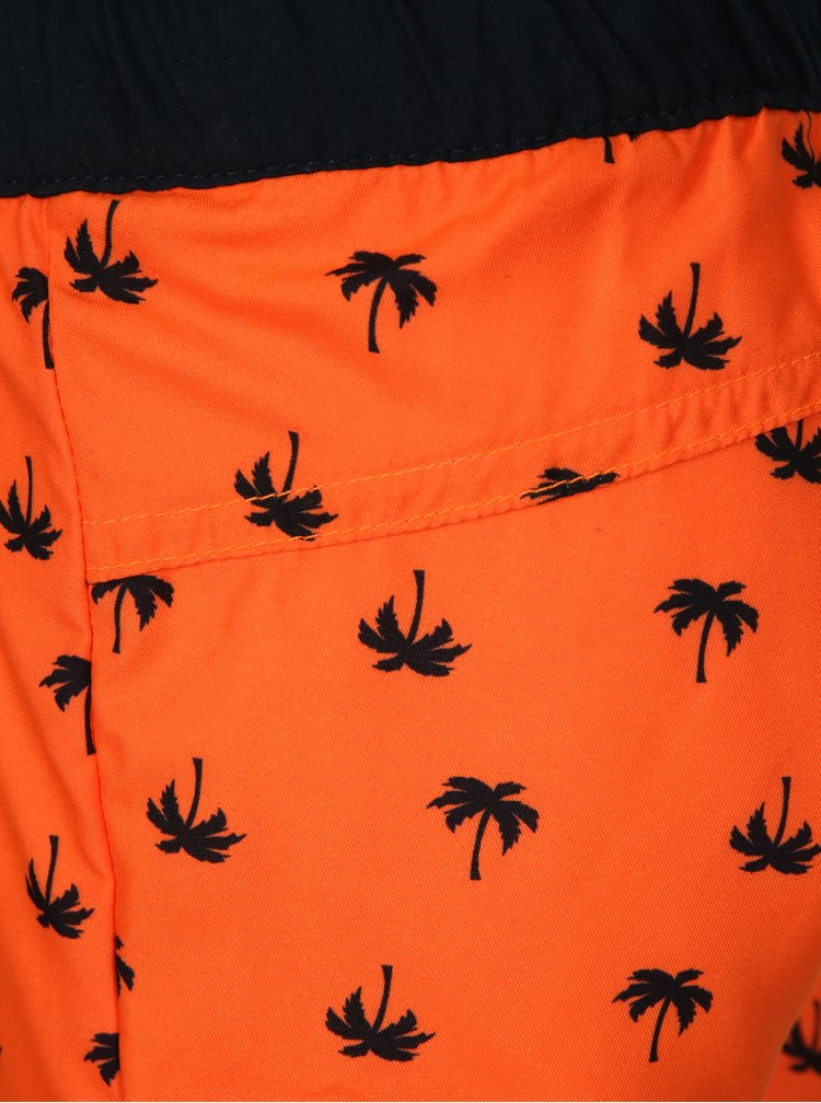 Neonově oranžové klučičí vzorované plavky name it Zox