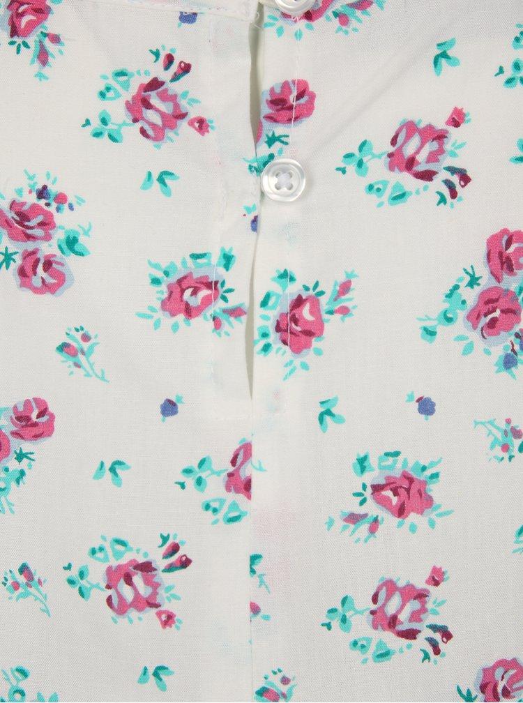 Bílé holčičí květované šaty name it Valaia
