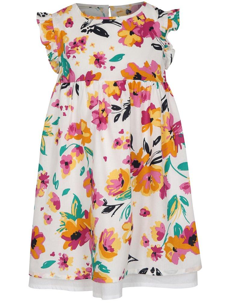 Růžovo-bílé holčičí šaty s květy name it Valaia