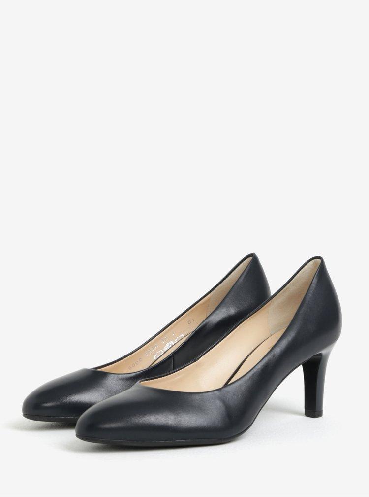 Pantofi bleumarin din piele cu toc-  Högl