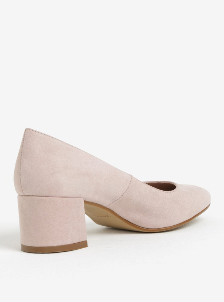 Pantofi roz deschis cu toc gros - OJJU