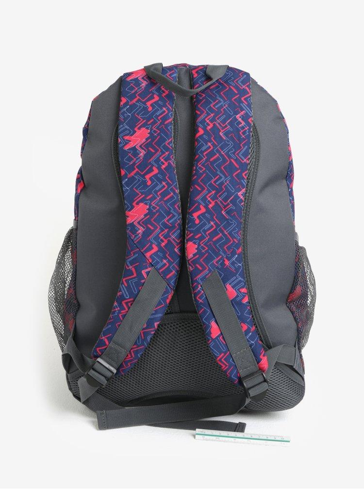 Modro-růžový vzorovaný holčičí batoh LOAP Shaw 25 l