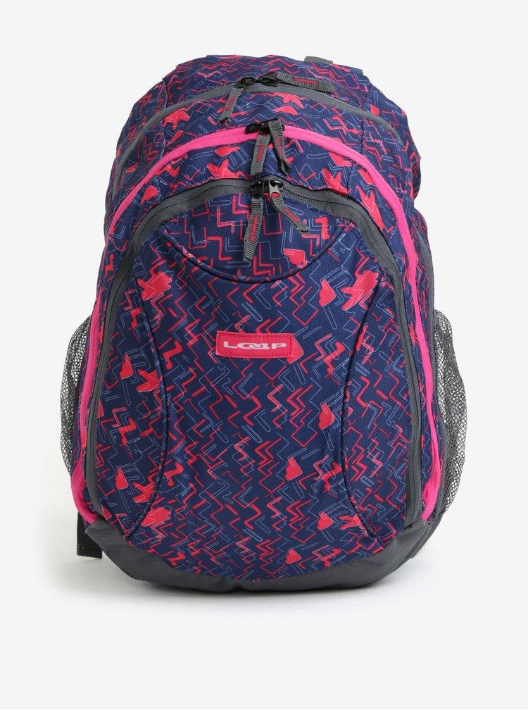 Modro-růžový holčičí vzorovaný batoh LOAP Shaw 25 l