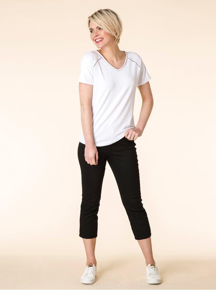 Bílé tričko s krajkovými detaily YEST