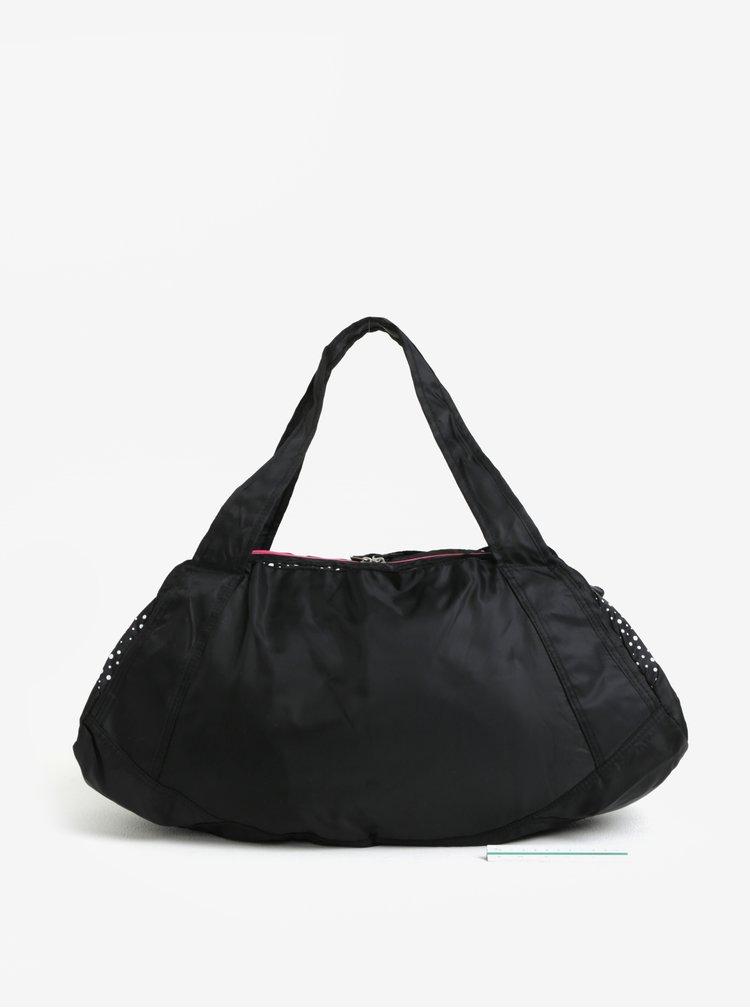 Černá vzorovaná sportovní taška LOAP Sandrine 30 l