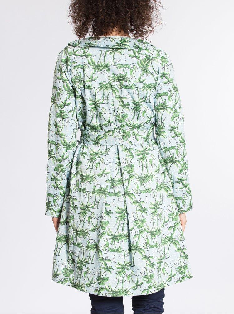 Zeleno-modrý vzorovaný kabát Blutsgeschwister