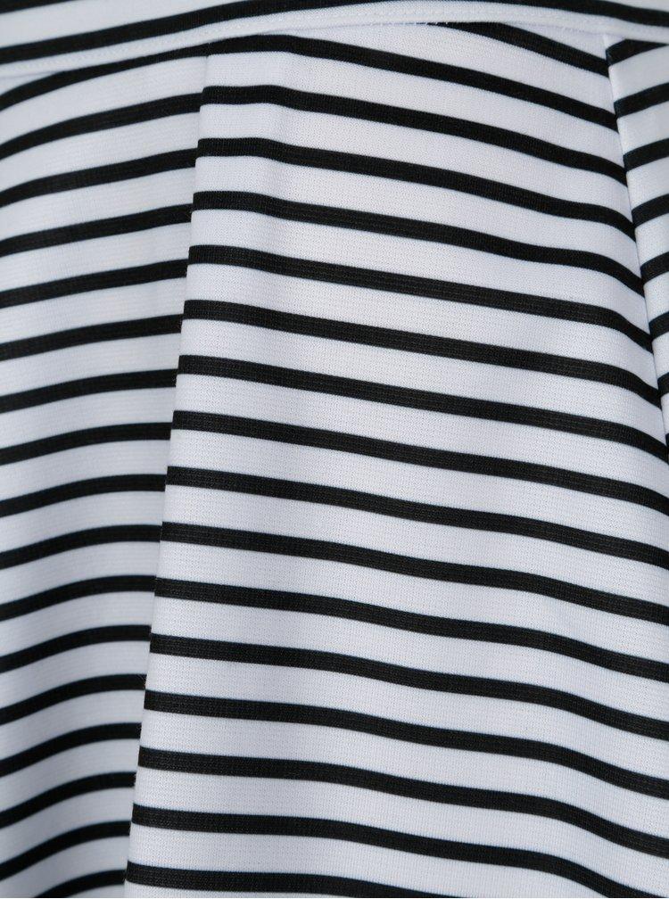 Černo-bílé pruhované kraťasy ONLY Esra