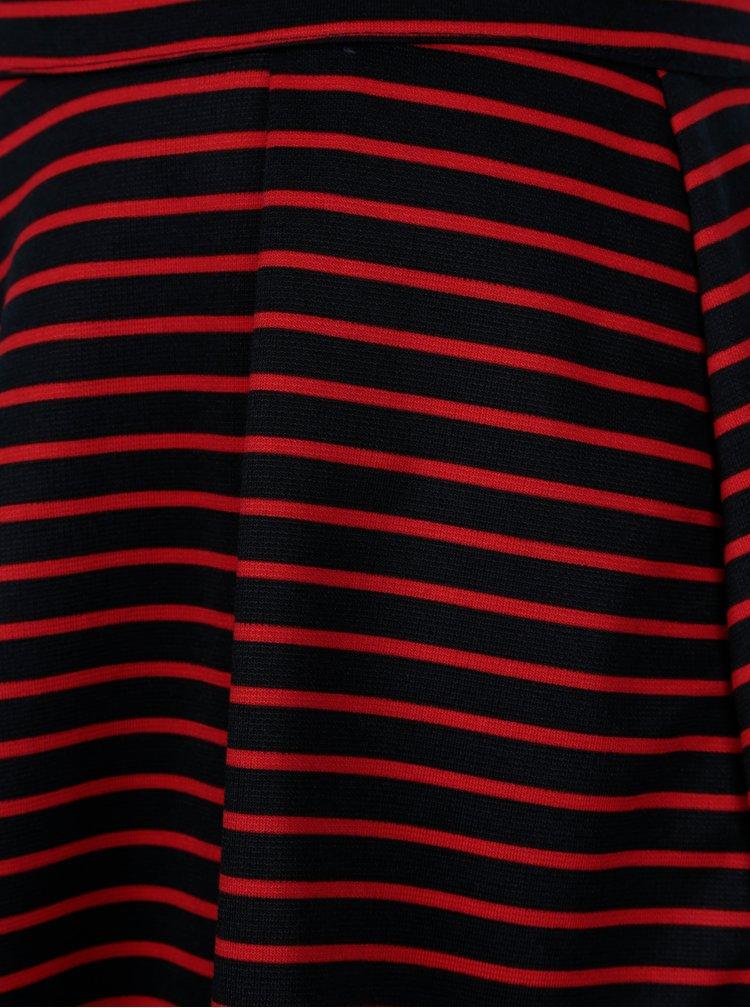 Červeno-modré pruhované kraťasy ONLY Esra
