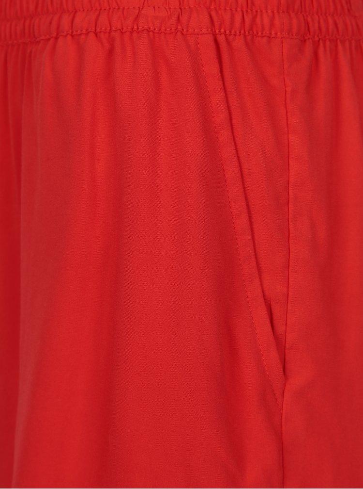 Červené kraťasy s kapsami ONLY Nova