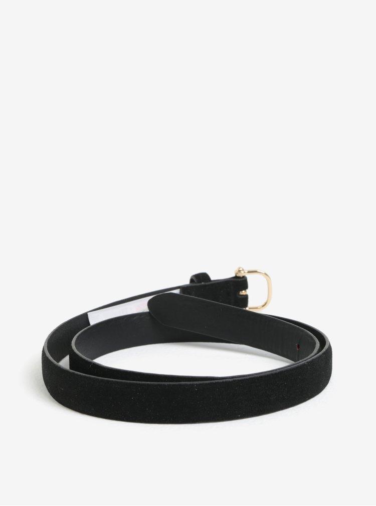 Černý semišový pásek Pieces Grio