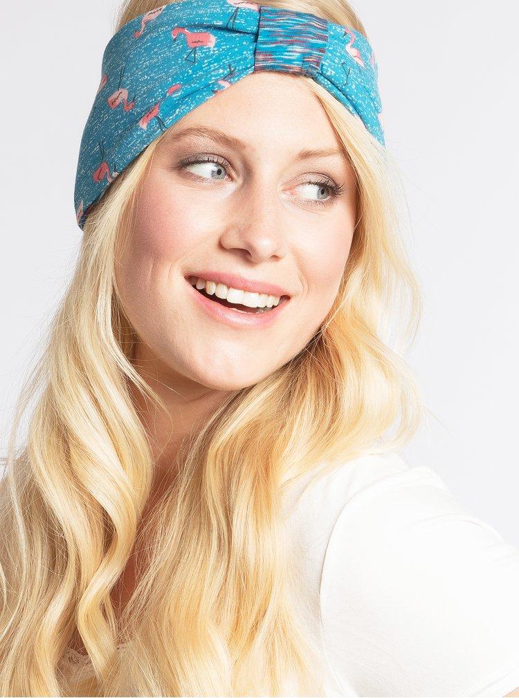 Modrá oboustranná vzorovaná čelenka Blutsgeschwister