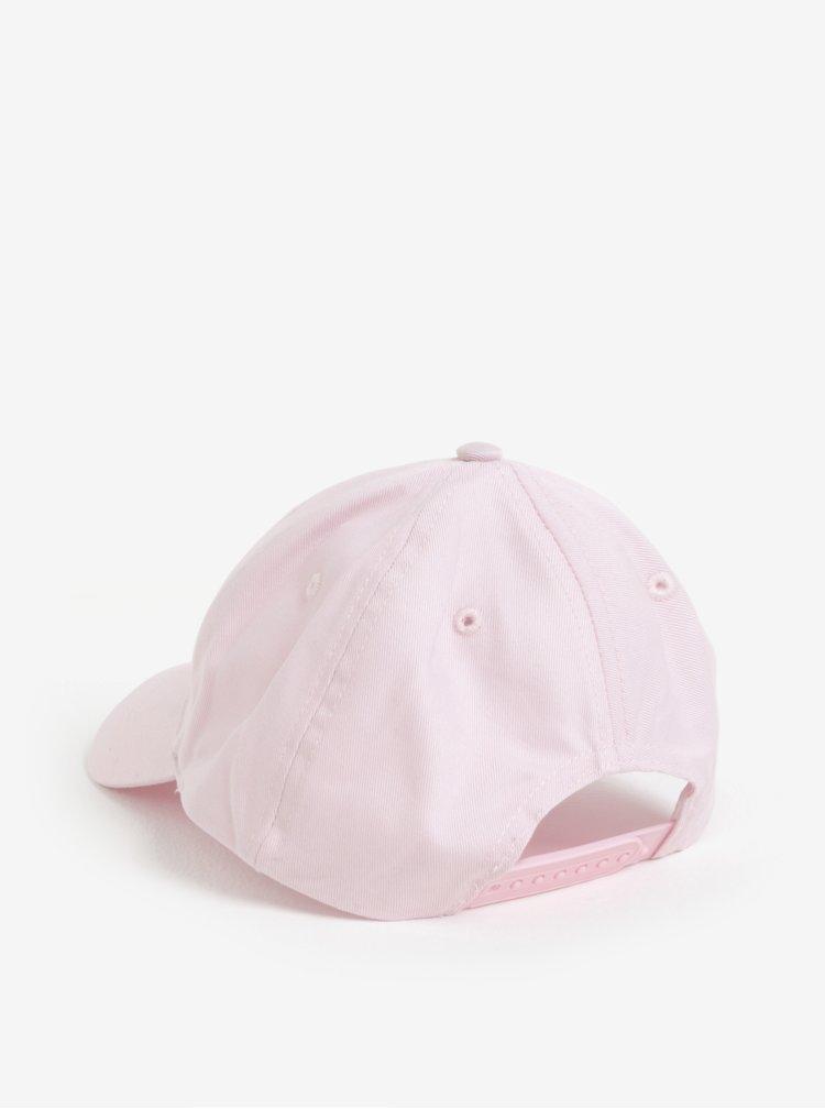 Sapca roz pal cu text brodat pentru femei - Cheap Monday Baseball