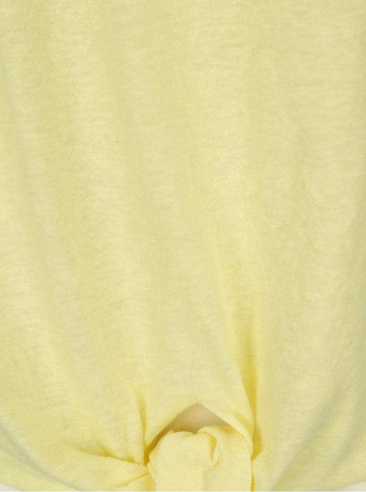 Žluté tričko s uzlem ONLY Uma