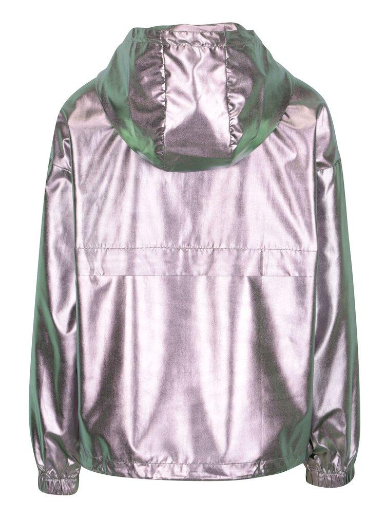 Dámská metalická bunda ve stříbrné barvě ONLY Cool Metallic