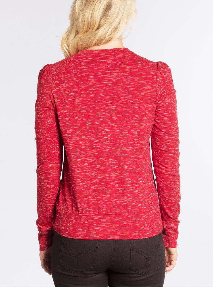 Červené žíhané tričko s dlouhým rukávem Blutsgeschwister