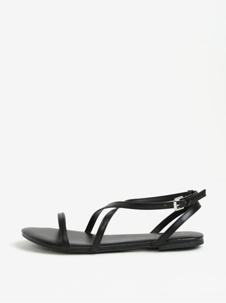 Černé sandály Pieces Docia