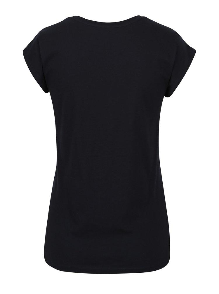 Tricou bleumarin cu model brodat - ONLY Hollie