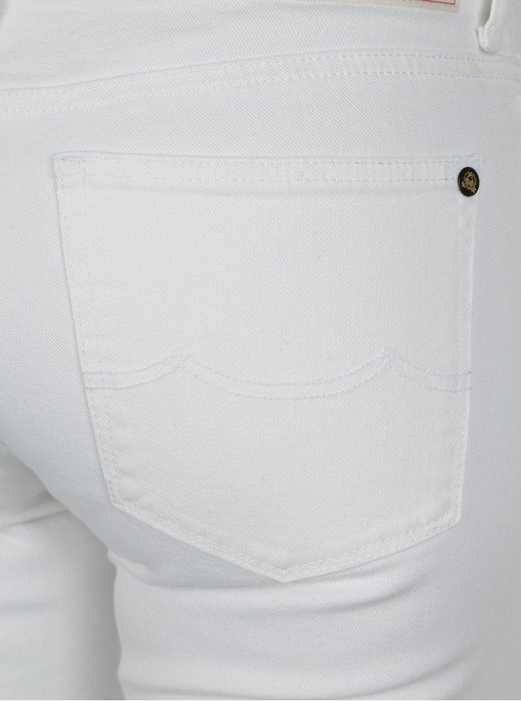 Blugi albi super slim fit pentru femei Kings of Indigo Juno High
